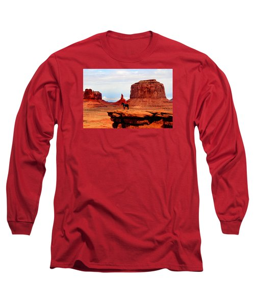 Monument Valley Long Sleeve T-Shirt by Tom Prendergast