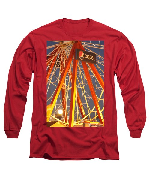 Moon And The Ferris Wheel Long Sleeve T-Shirt