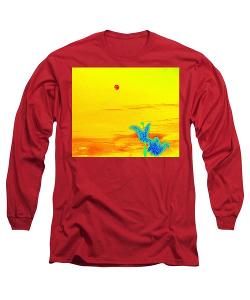 Moon And Two Palms Long Sleeve T-Shirt