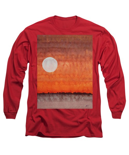 Moon Over Mojave Long Sleeve T-Shirt by Sol Luckman