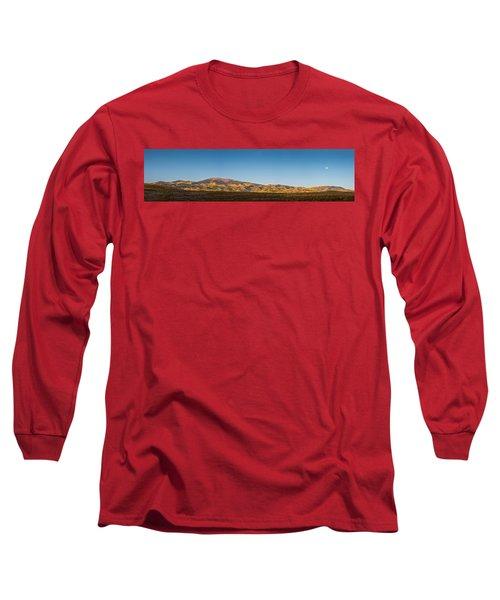 Moon Over Pintada Mountain At Sunrise In The San Juan Mountains, Long Sleeve T-Shirt by John Brink