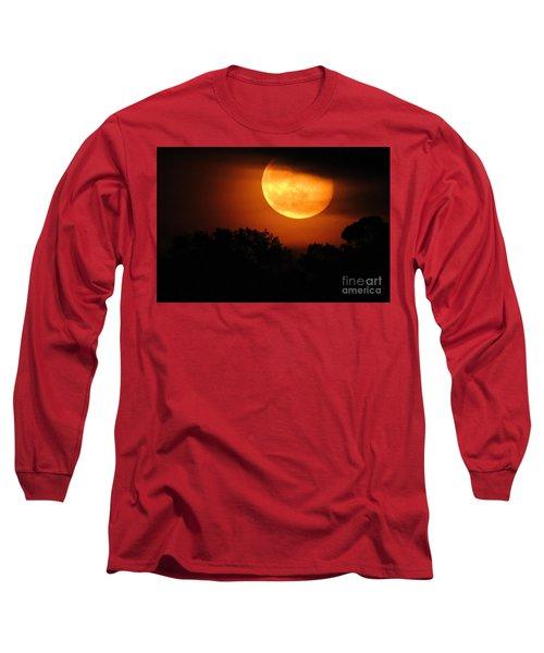Moon Rise Long Sleeve T-Shirt by Shelia Kempf