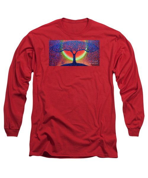 Long Sleeve T-Shirt featuring the painting moonshine-2/God-is light/ by Viktor Lazarev