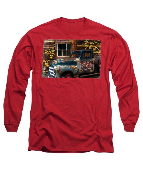 Moonshine Express Bordered Long Sleeve T-Shirt by Debra and Dave Vanderlaan