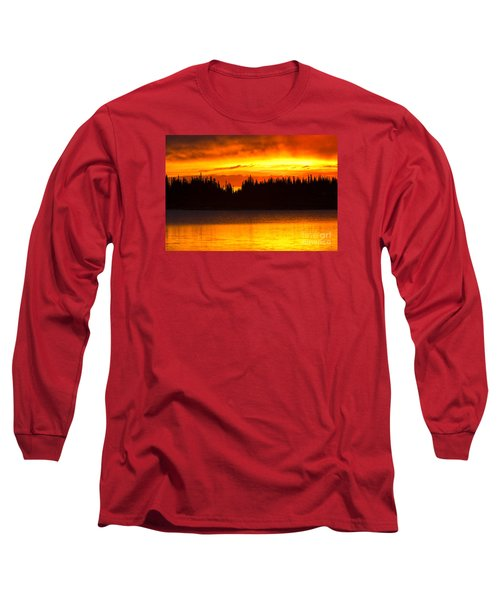 Morning Fire Long Sleeve T-Shirt by Aaron Whittemore