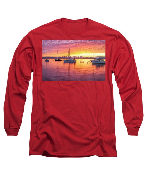 Morning Glow Long Sleeve T-Shirt by Joseph S Giacalone