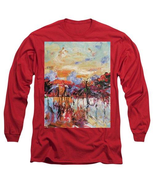 Morning In The Garden Long Sleeve T-Shirt by Kovacs Anna Brigitta