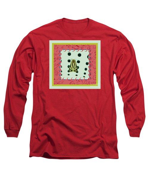 Moth Red Border Long Sleeve T-Shirt