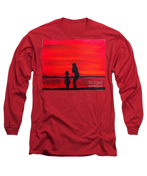 Long Sleeve T-Shirt featuring the painting Mother And Child by Rod Jellison