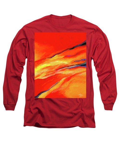 Long Sleeve T-Shirt featuring the painting Motivation by Stephen Anderson