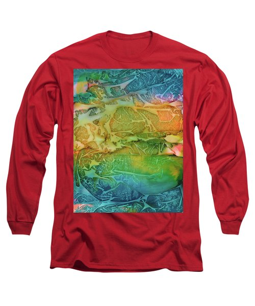 Mountains, Trees, Icy Seas Long Sleeve T-Shirt