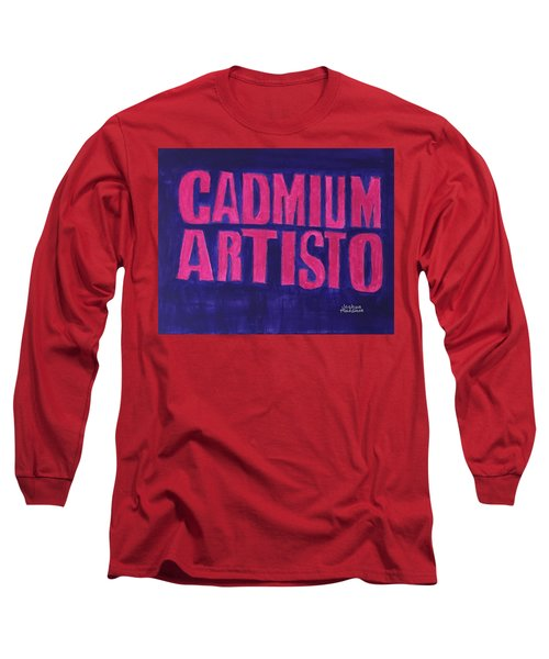 Movie Logo Cadmium Artisto Long Sleeve T-Shirt