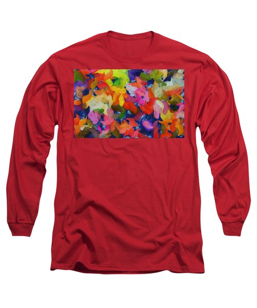 Mr Autumn Meets  Lady Spring - Painting - Wet Paint  Long Sleeve T-Shirt