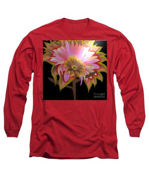 Multi Color Daisy Long Sleeve T-Shirt by Belinda Threeths