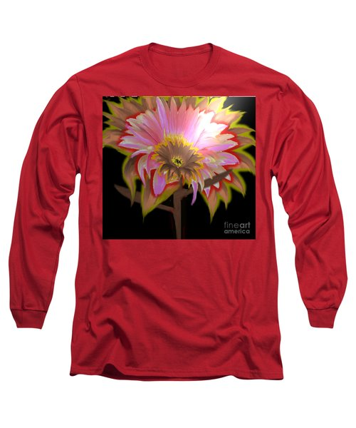 Multi Color Daisy Long Sleeve T-Shirt