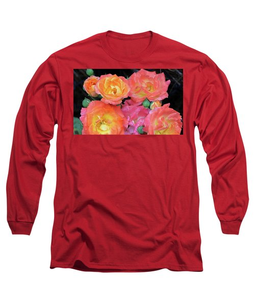 Long Sleeve T-Shirt featuring the photograph Multi-color Roses by Jerry Battle