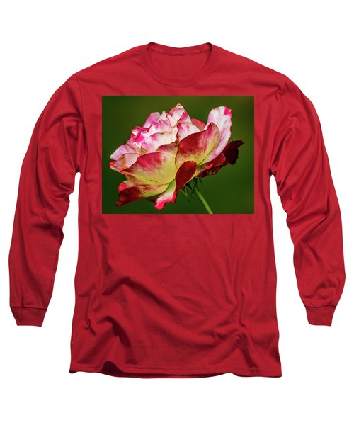 Multi-colored Rose Long Sleeve T-Shirt