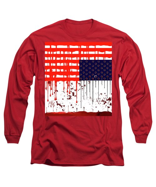 America In Distress Long Sleeve T-Shirt