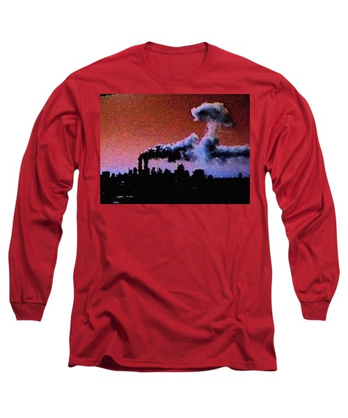 Long Sleeve T-Shirt featuring the digital art Mushroom Cloud From Flight 175 by James Kosior