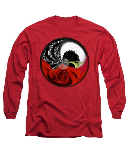 Long Sleeve T-Shirt featuring the photograph Music Orbit by Phyllis Denton