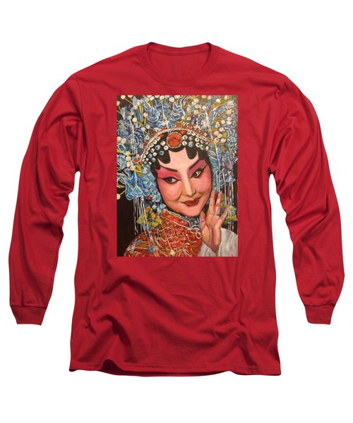 Long Sleeve T-Shirt featuring the painting My Fair Lady by Belinda Low