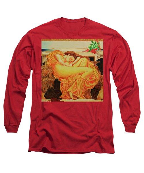 My Rendering Of Flaming June Long Sleeve T-Shirt