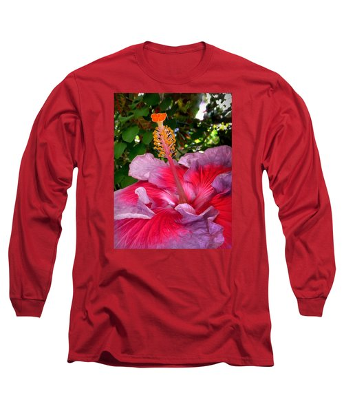My Special Hibiscus Long Sleeve T-Shirt by Lori Seaman