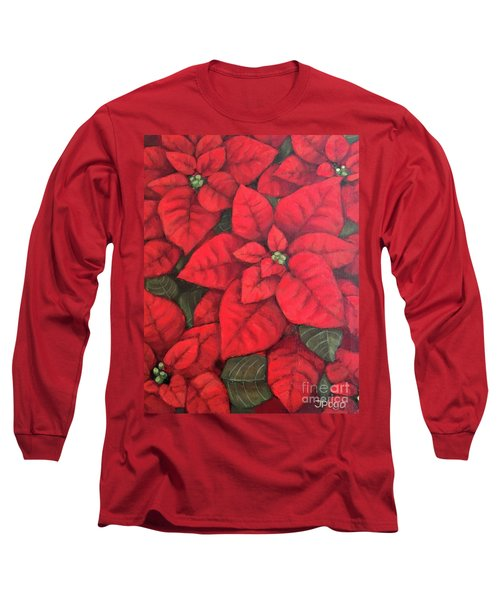 My Very Red Poinsettia Long Sleeve T-Shirt