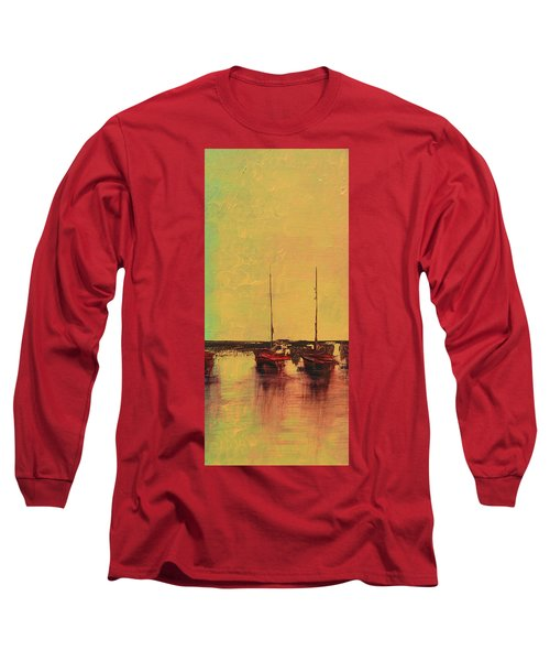 Mystic Bay Triptych 2 Of 3 Long Sleeve T-Shirt