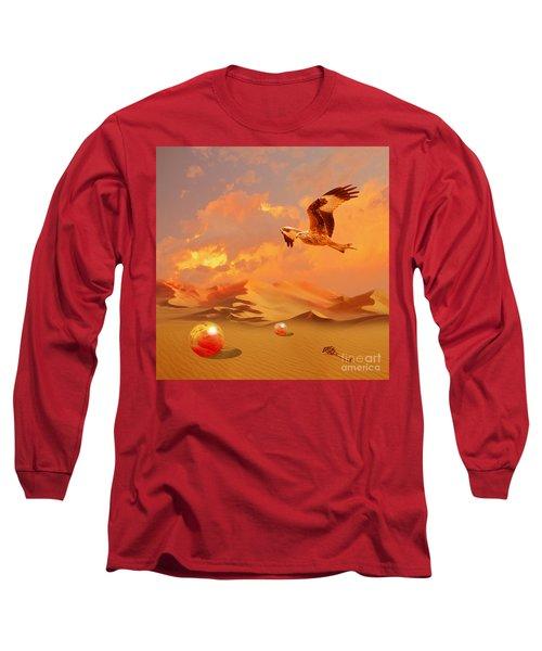 Long Sleeve T-Shirt featuring the digital art Mystic Desert Another Planet by Alexa Szlavics
