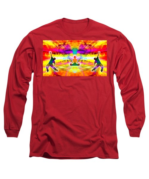 Long Sleeve T-Shirt featuring the digital art Mystic Universe 11 by Derek Gedney