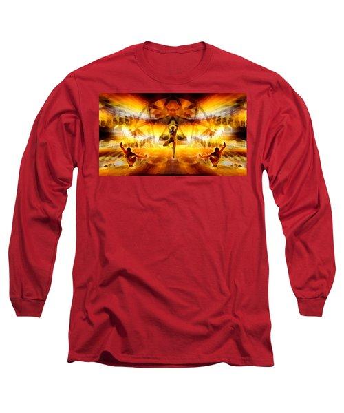 Long Sleeve T-Shirt featuring the digital art Mystic Universe 7 by Derek Gedney