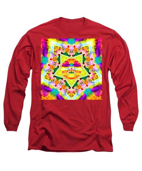 Long Sleeve T-Shirt featuring the digital art Mystic Universe Kk 11 by Derek Gedney