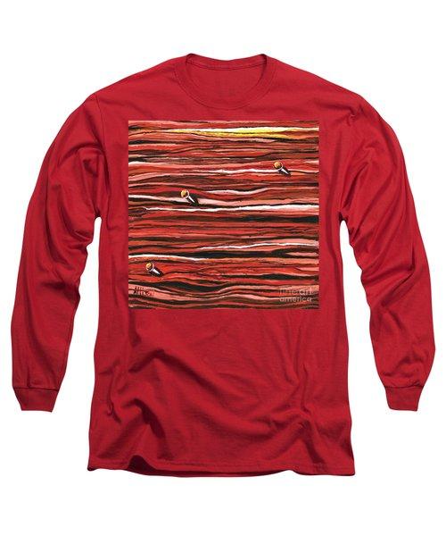 Nailed To The Wall  Long Sleeve T-Shirt
