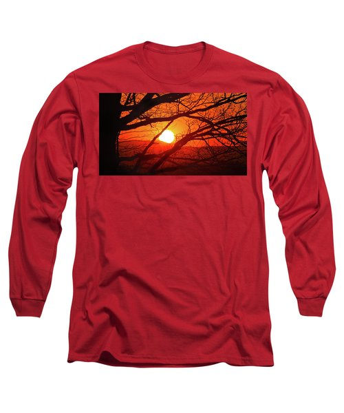 Naked Tree At Sunset, Smith Mountain Lake, Va. Long Sleeve T-Shirt