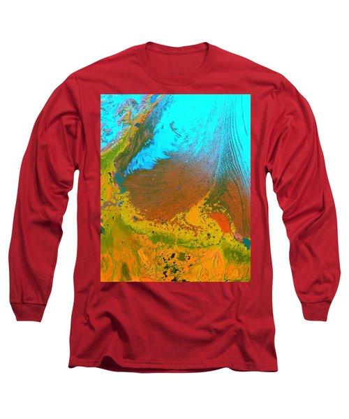 Nasa Image-malaspina Glacier, Alaska-glacier-2 Long Sleeve T-Shirt