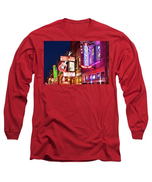 Long Sleeve T-Shirt featuring the photograph Nashville Signs by Brian Jannsen