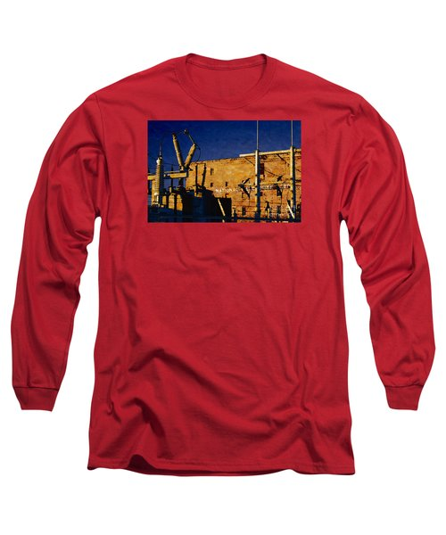 Long Sleeve T-Shirt featuring the digital art National Warehouse Corp by David Blank