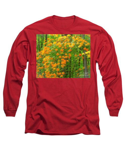 Long Sleeve T-Shirt featuring the photograph Natural Wild Azaleas  by Rand Herron
