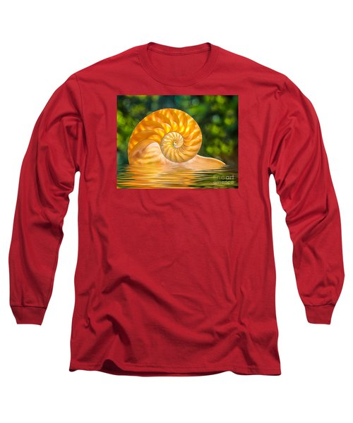 Nautilus Shell Submerged In Water Long Sleeve T-Shirt