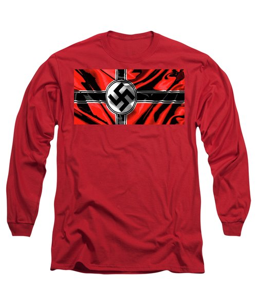 Nazi Flag Color Added 2016 Long Sleeve T-Shirt