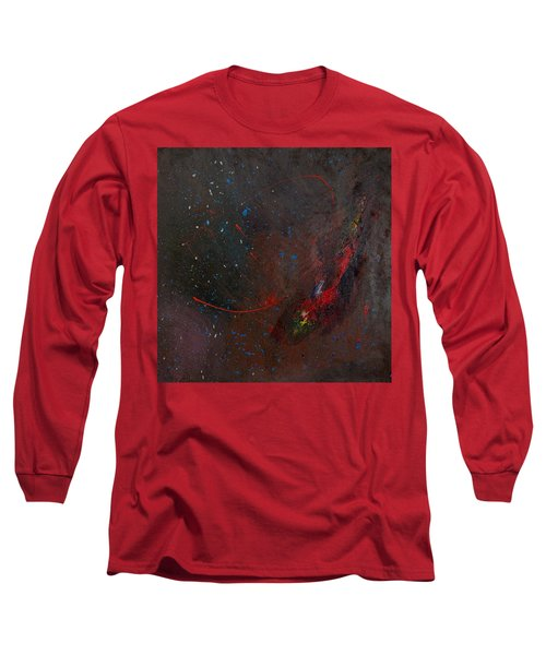 Long Sleeve T-Shirt featuring the painting Nebula by Michael Lucarelli