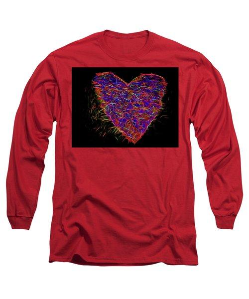 Neon Heart Long Sleeve T-Shirt