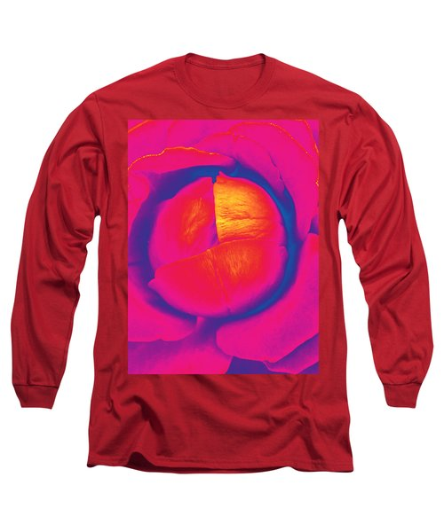 Neon Lettuce Rose Long Sleeve T-Shirt by Samantha Thome