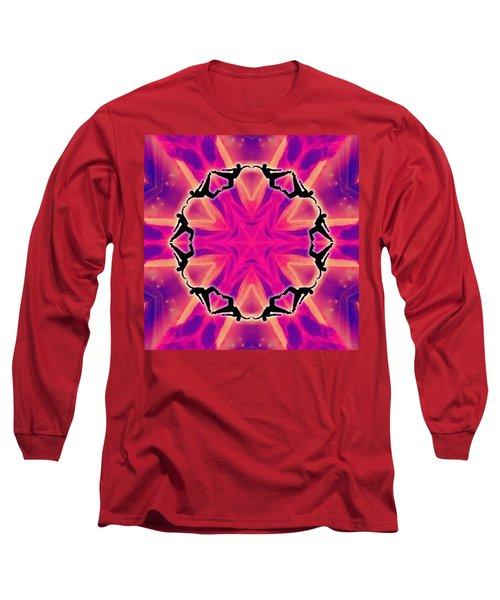 Long Sleeve T-Shirt featuring the digital art Neon Slipstream by Derek Gedney