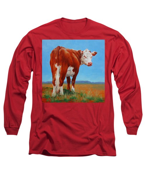 Long Sleeve T-Shirt featuring the painting New Horizons Undecided by Margaret Stockdale
