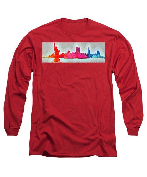 New York Skyline Old Shapes - Da Long Sleeve T-Shirt