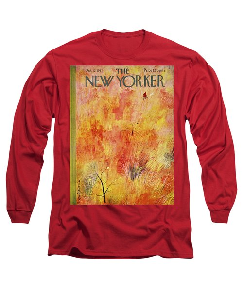 New Yorker October 12th 1957 Long Sleeve T-Shirt