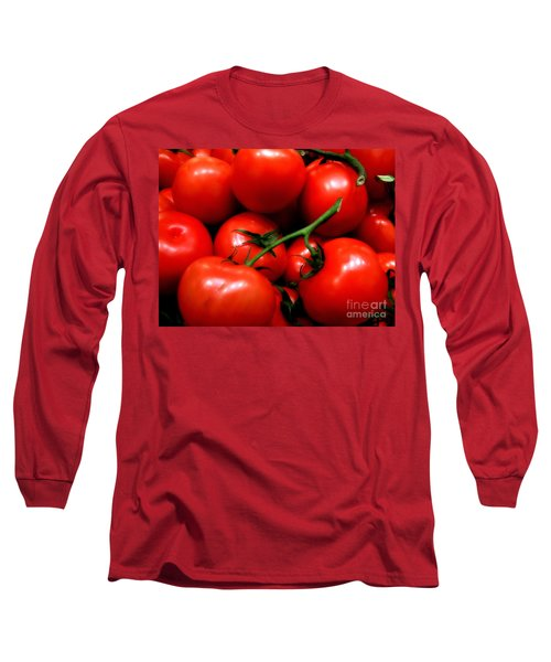 Nice Tomatoes Baby Long Sleeve T-Shirt by RC DeWinter