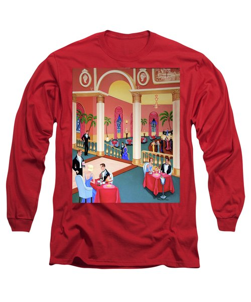Night Life Long Sleeve T-Shirt by Tracy Dennison